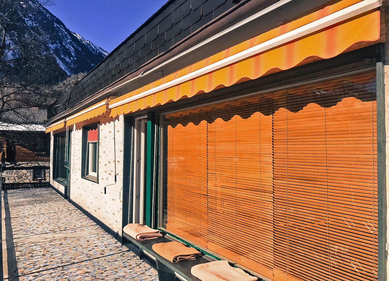 terrace swiss alps