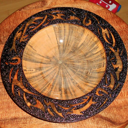 pyrography koa tribal platter