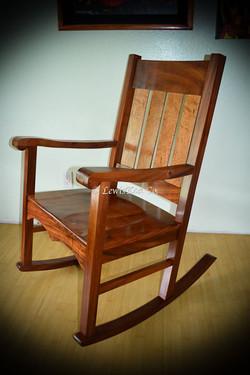 Hawaiian Koa Nicola rocker chair