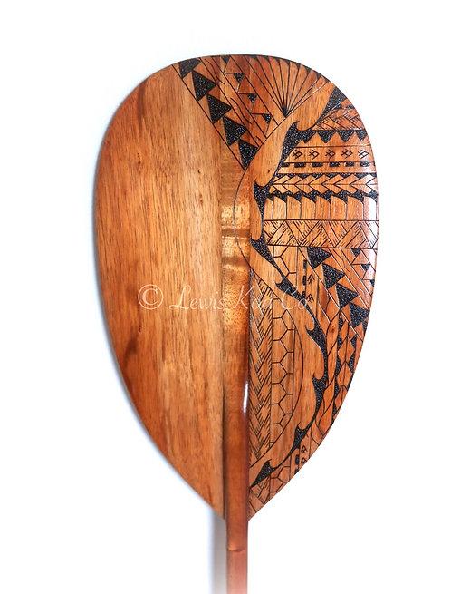 Koa Paddle with Tribal Pyrography Art (KPPY98)