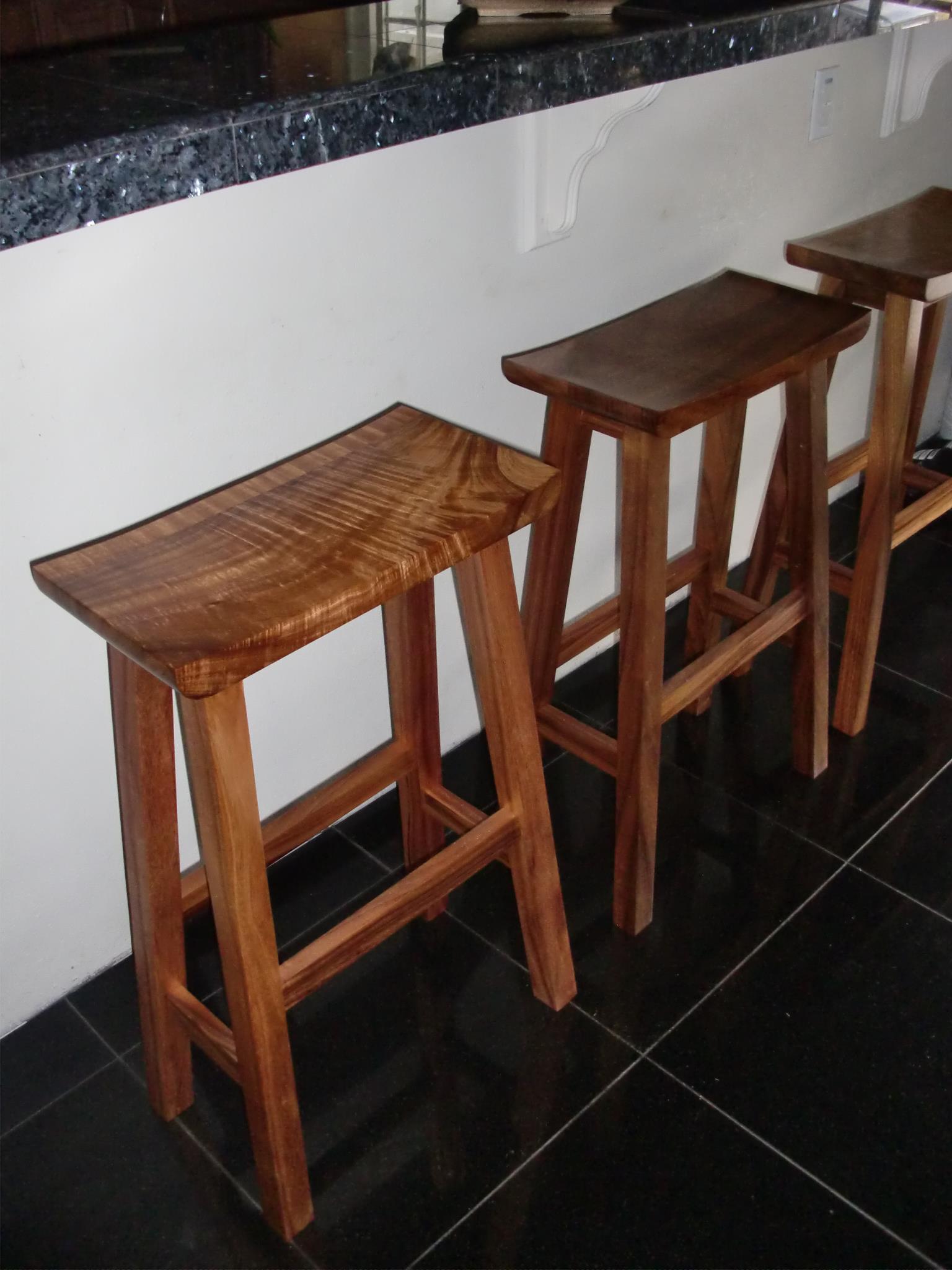 Koa bar stools