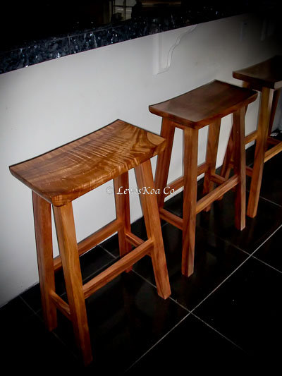 "Koa Barstool ""Saddle"""
