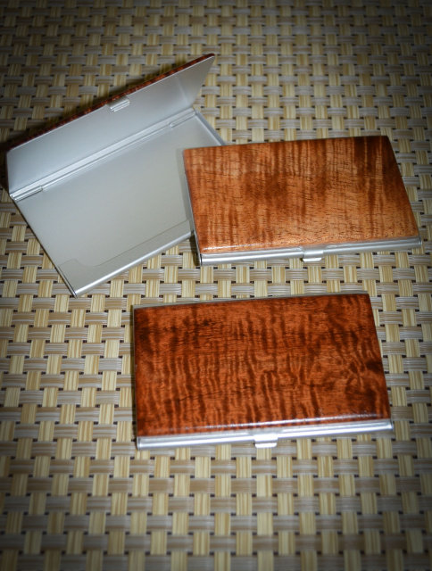 Curly Koa Business Card Case