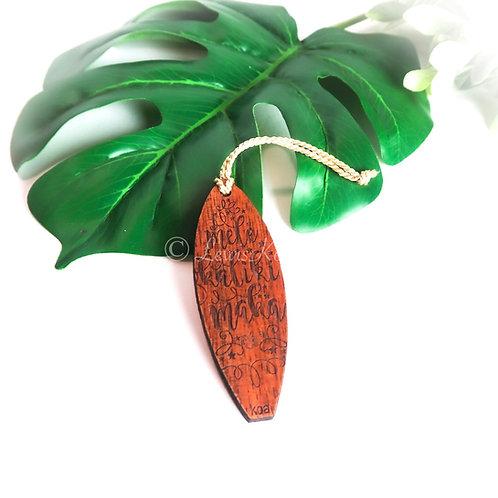Koa Surf Ornament