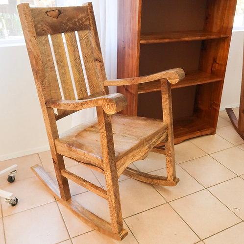 Queen Liliuokalani Curly Mango Rocking Chair
