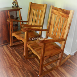 Koa rocker chairs