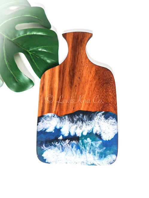 Koa with resin art small cheese board