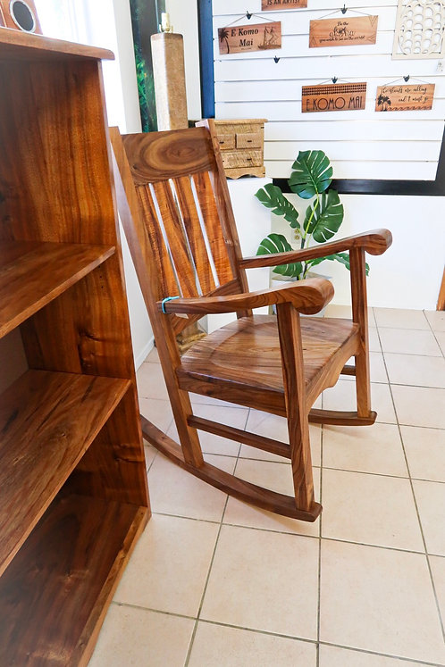 Queen Liliuokalani Koa Rocking Chair
