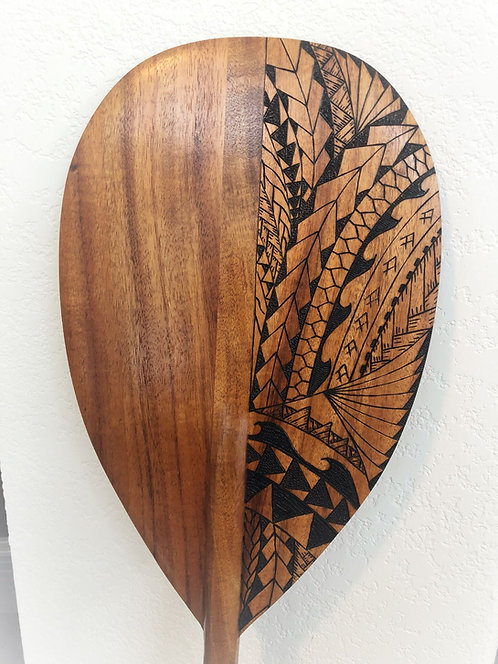 Koa Paddle w/ Tribal Pyrography (KPPY200)