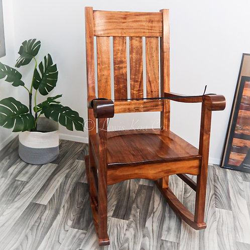 Queen Liliuokalani Koa Rocking Chair (QLR5)