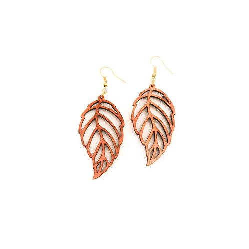 Feather Koa Earring