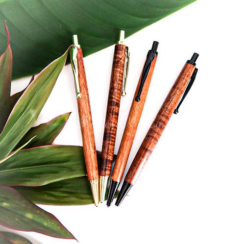 Koa Clicker Pen