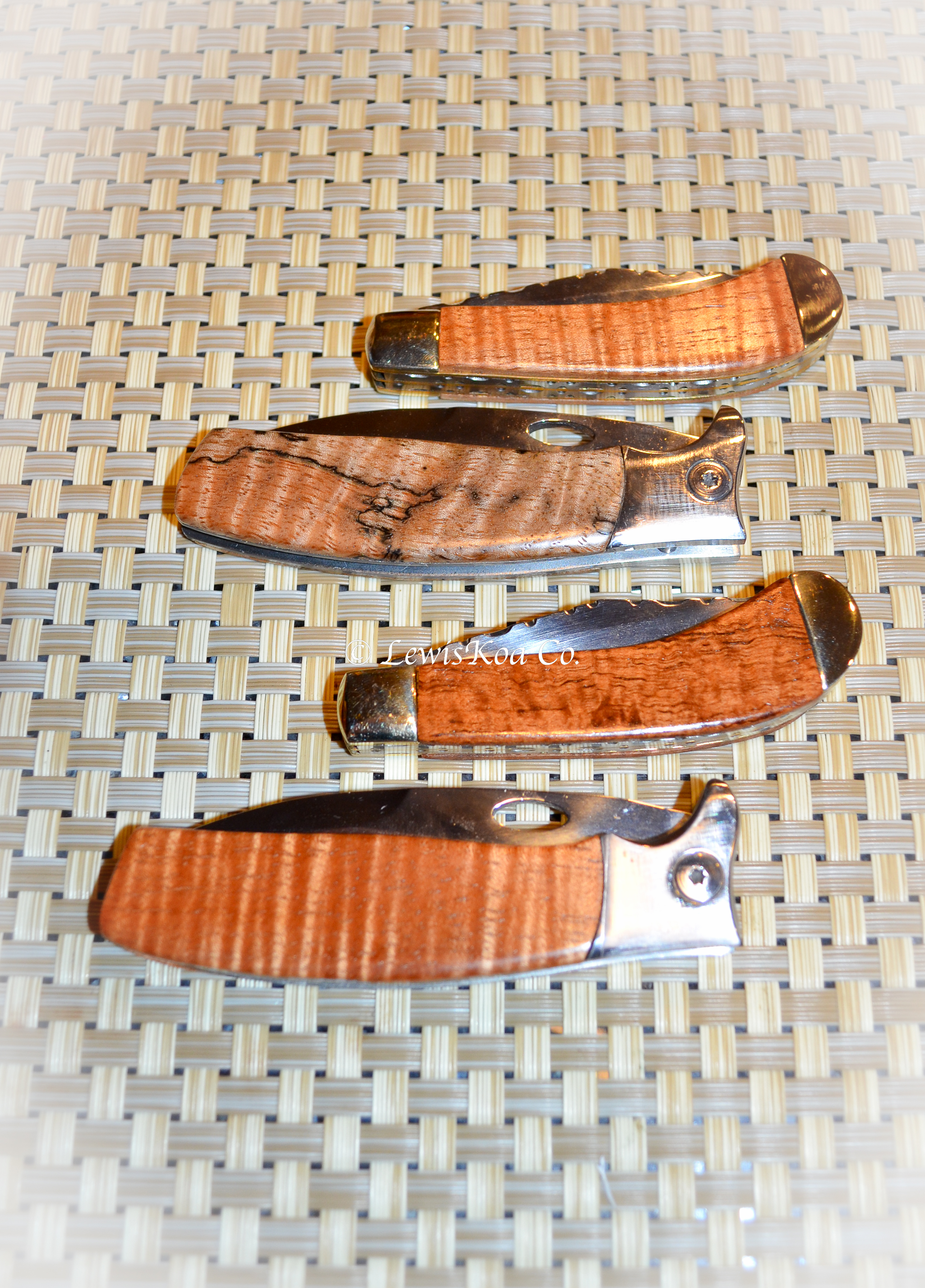 Koa Hawaiian fold out knives