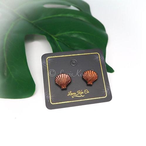 Koa Earring, Seashell stud