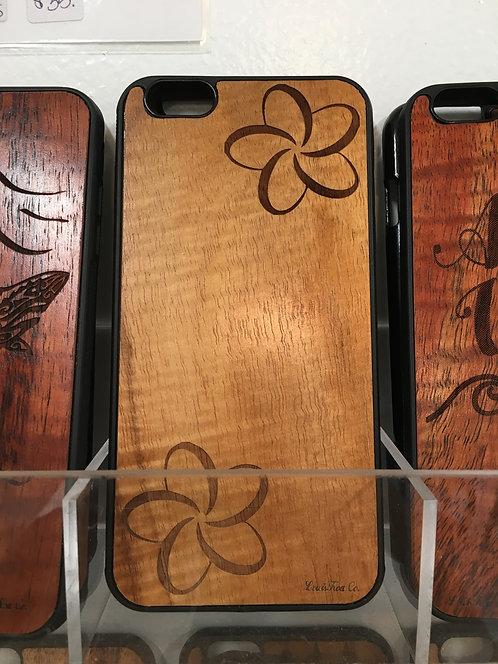 Koa Iphone Case, Plumeria 2