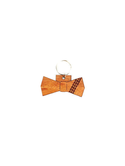 Tribal Bow Tie Koa Collar Charm