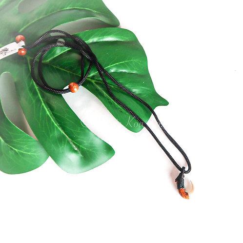 Koa with Bone Mini Hook Pendant (KHK032M)