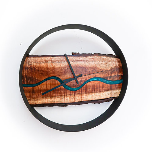 Modern Koa Wall Clock