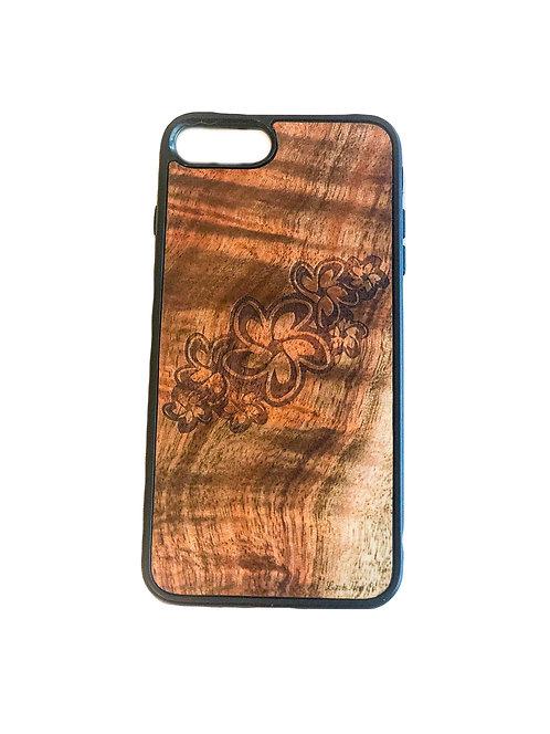 Plumeria Koa Iphone Case
