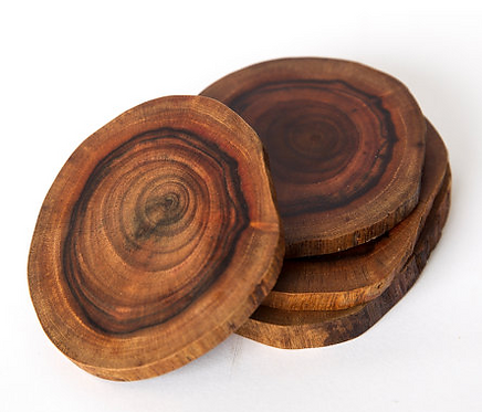 Natural Wood Coaster