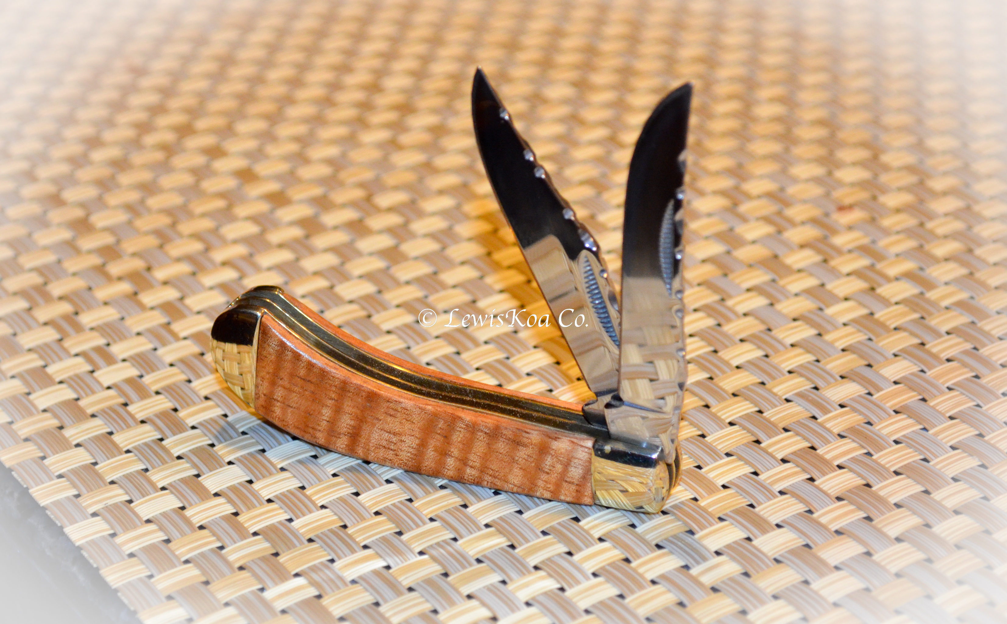 Koa wooden knife