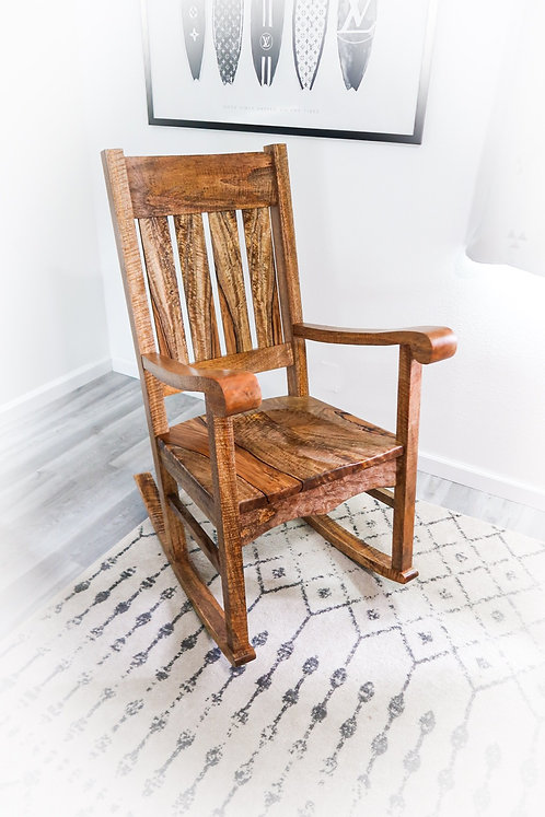 Queen Liliuokalani Curly Mango Rocking Chair