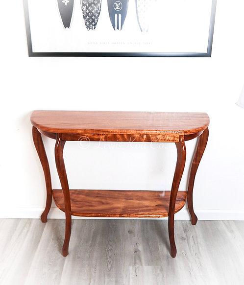 Koa Foyer Table with shelf