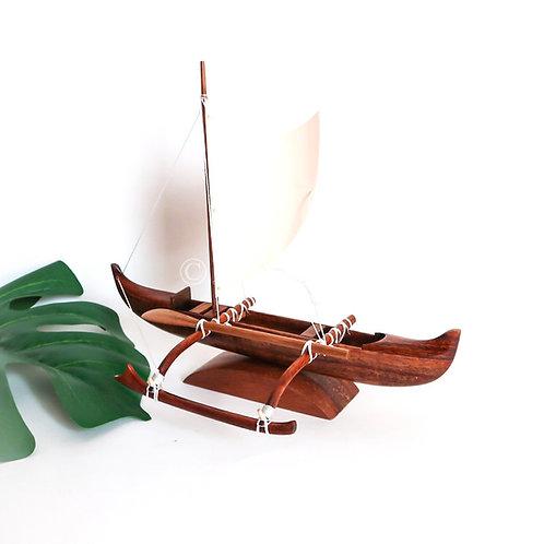 Koa Fishing Canoe with Sail