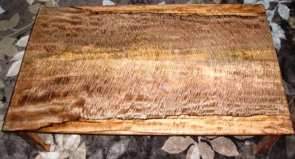 Koa wood table grain