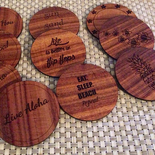 Koa Coasters