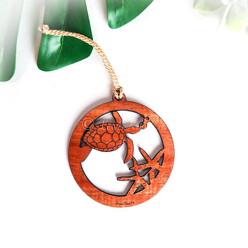 Koa Honu Starfish Ornament