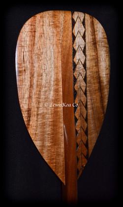 Koa pyrography paddle