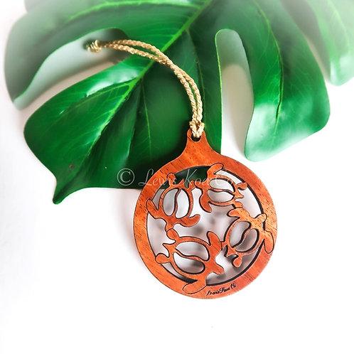 Koa Honu Ornament