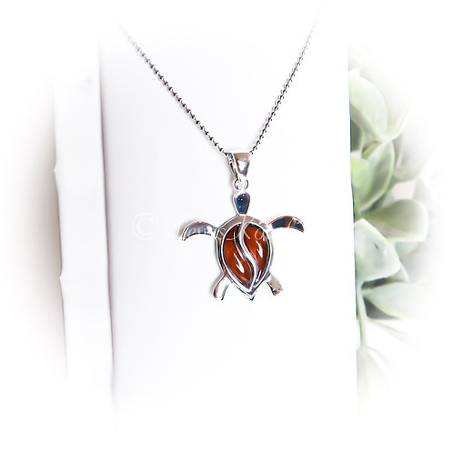 Koa & Silver Honu Necklace