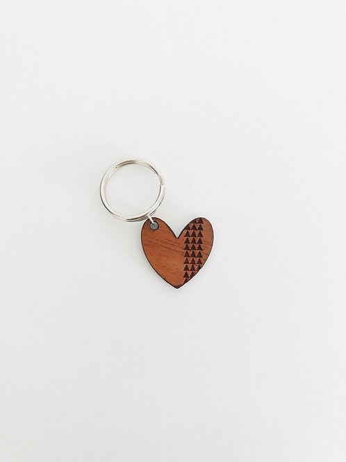 Tribal Heart Koa Collar Charm
