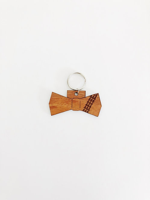 Tribal Bow Tie Koa Collar Charm