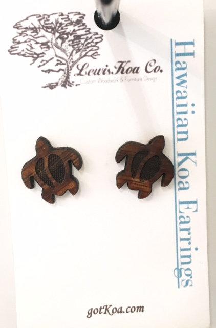 Koa Earring, Honu stud