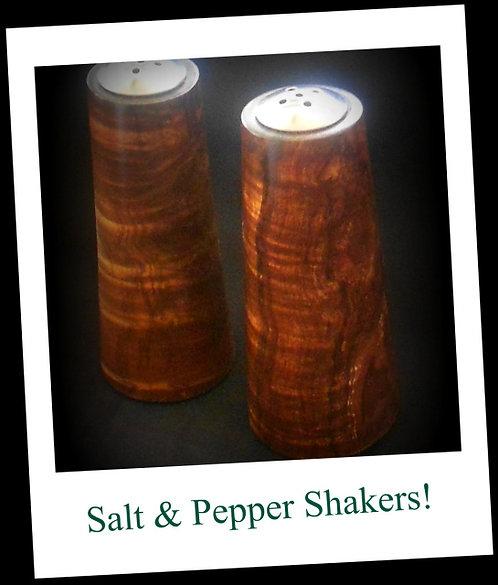 Koa Salt & Pepper Shakers