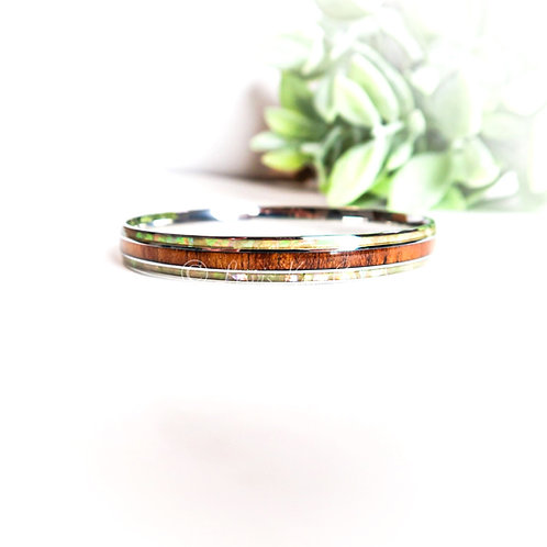 Koa with Mother of Pearl Bracelet
