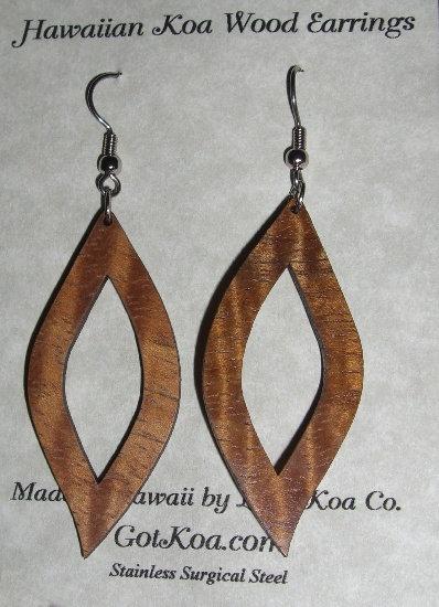 Koa Earring, Mod Leaf