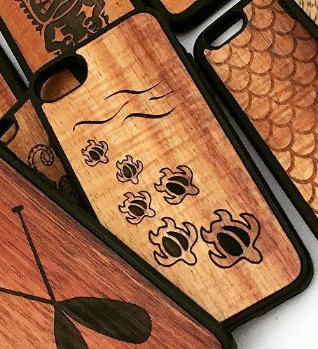 Koa Iphone Case, Honu ohana