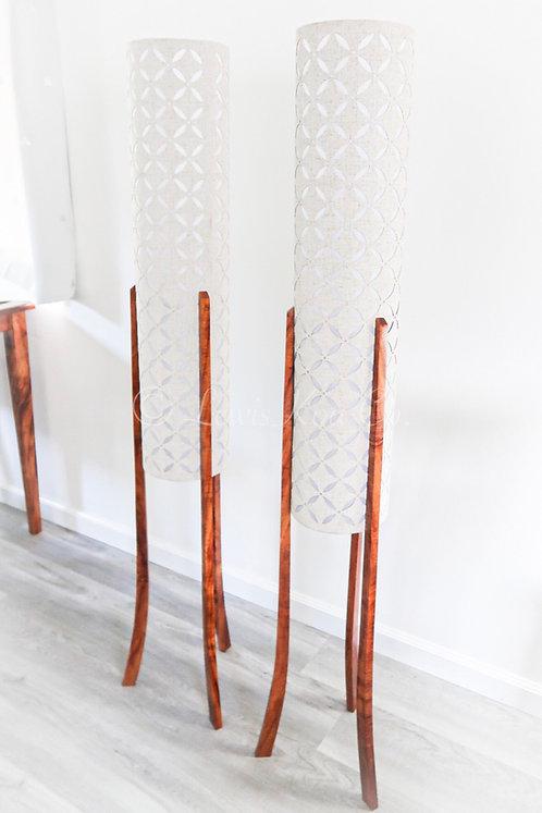 Modern Koa Floor Lamp
