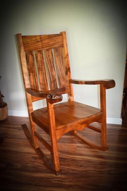 Hawaiian Koa rocker chair