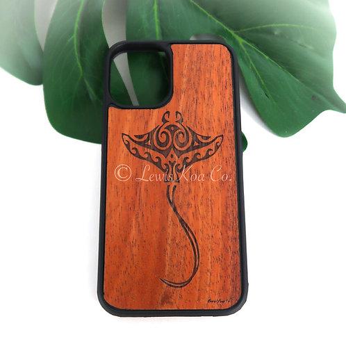 Koa Iphone Case, Manta ray