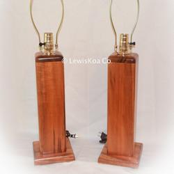 Koa wood Lamps