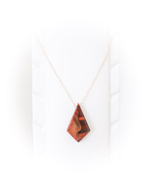 Koa + Resin Pendant Necklace (KN9)