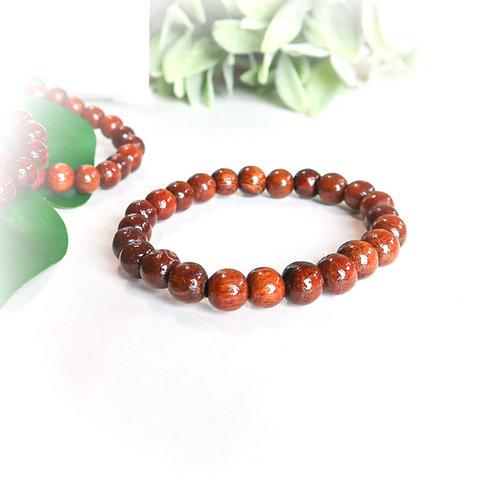 Koa Bead Stretch Bracelet