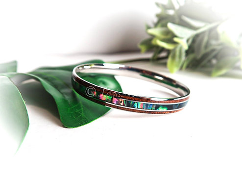 Koa with Paua Shell Bracelet