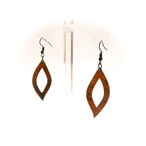 Leaf Koa Earring