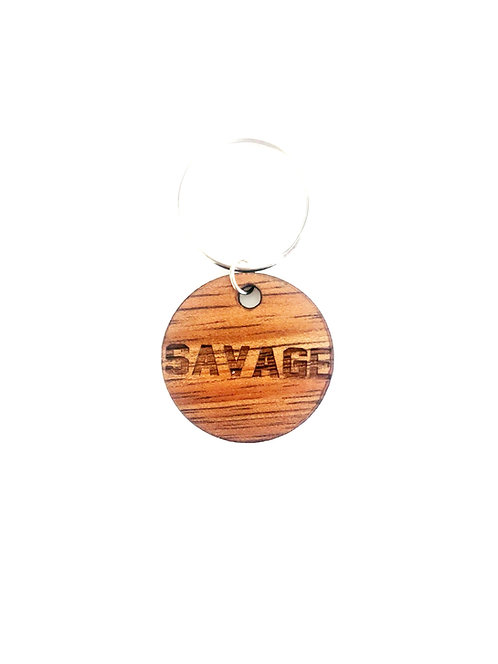 """SAVAGE"" Circle Koa Collar Charm"